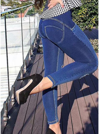 Shirred Sexy Skinny Vintage Denim & Jeans