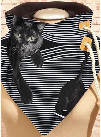 Striped/Animal fashion/Black Cat Scarf