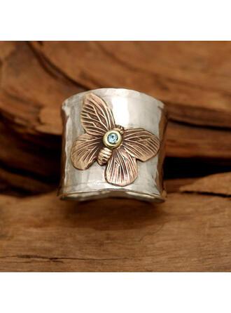 Vintage Butterfly Alloy Women's Rings