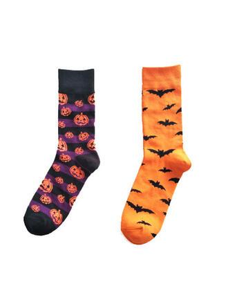 Cómodo/Halloween/Calabaza/Palo en forma Calcetines (Juego de 2 pares)