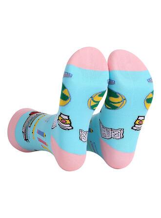 Letter/Print Multi-color/Crew Socks/Unisex Socks