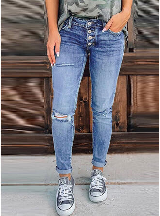 Ripped Skinny Vintage Denim & Jeans