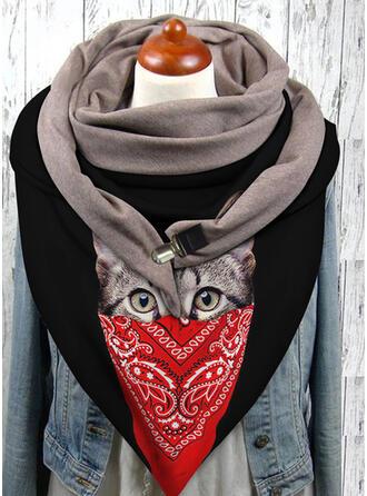 Animal/Print fashion/Black Cat Scarf