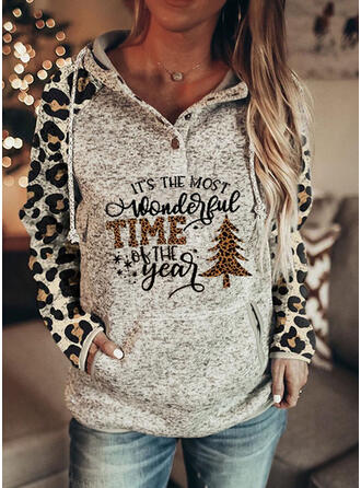 Leopard Figure Long Sleeves Christmas Sweatshirt