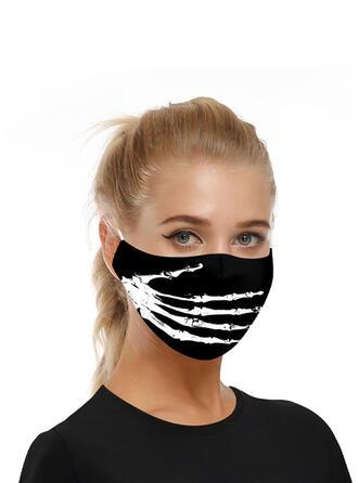 Respirable/Protector/Cómodo/Impresión del cráneo/Reutilizable/Halloween/Agradable Para La Piel/Lavable Máscaras faciales
