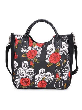 Floral/Halloween/Cráneo/Horripilante Bolsas de mano/Bolsos cruzados
