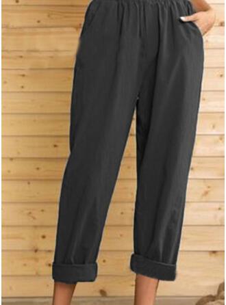 Fruncido Talla extra midi Casual Elegante Pantalones