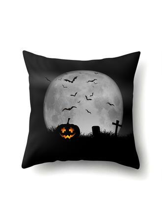 Horripilante Murciélago Halloween Calabaza poliéster Decoraciones De Halloween Fundas de almohada