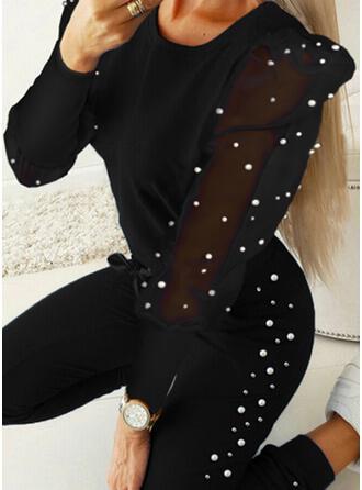 Lace PolkaDot Drawstring Elegant Sexy Suits