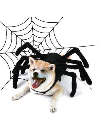 Horripilante Halloween Araña Paño grueso y suave coralino Disfraces para mascotas