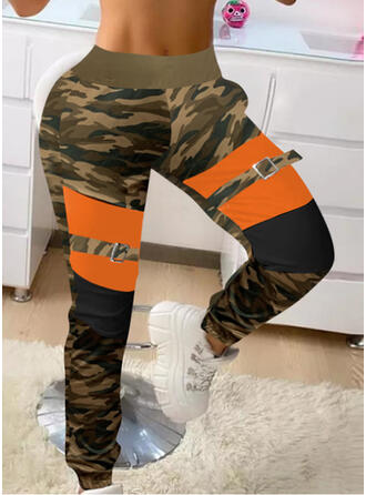 Patchwork Camouflage Casual Sporty Lounge Pants
