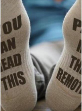 Letter/Print Crew Socks/Unisex Socks