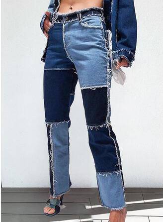 Patchwork Tassel Tribal Vintage Denim & Jeans