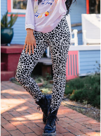 Leopard Casual Sporty Stretchy Leggings