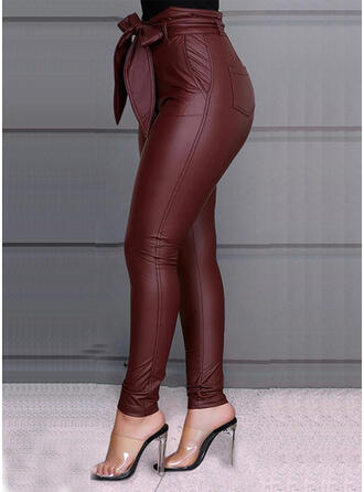 Patchwork Talla extra Bowknot Largo Elegante Sexy Pantalones