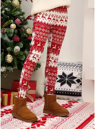 Print Plus Size Christmas Sexy Vintage Leggings