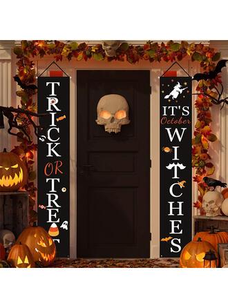 Horripilante Halloween Truco o trato Tela Oxford Decoraciones De Halloween Signo de porche