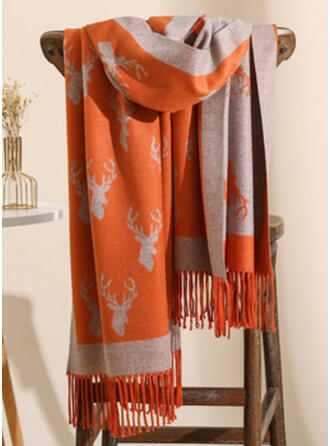 Tassel/Christmas/Graphic Prints fashion/Animal Designed Scarf