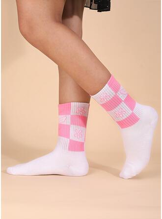 Color Block Crew Socks Socks