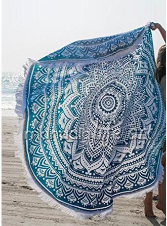 Retro /Vendimia/Borla/Bohemia Ligero/de gran tamaño/redondo/Multifuncional/Libre de arena/Secado rápido toalla de playa