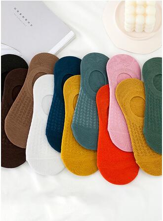 Solid Color/Crochet Multi-color/Ankle Socks Socks 10-pairs