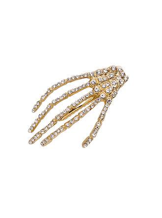Cráneo Halloween Aleación Diamantes de imitación con Diamantes de imitación Accesorios para el cabello 1 PC