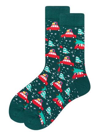 Print Comfortable/Christmas/Crew Socks/Unisex Socks
