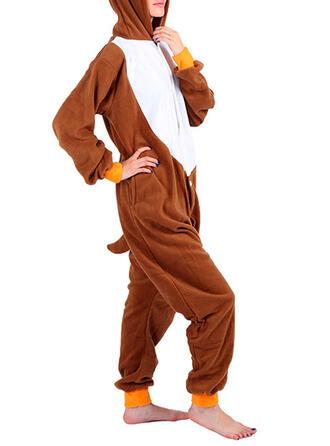 Polyester Long Sleeves Christmas Reindeer Romper