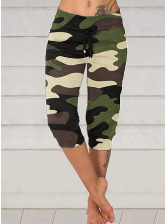 Camouflage Capris Casual Plus Size Drawstring Pants