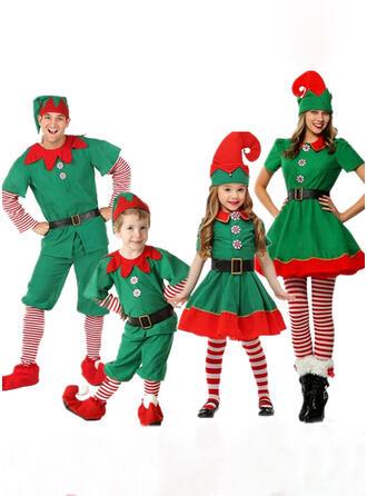 Color-block Striped Family Matching Christmas Pajamas