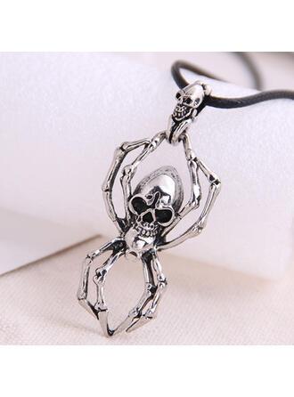 Cráneo Halloween Araña Aleación Cuerda trenzada Collares