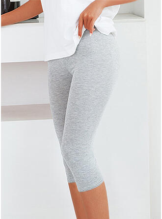 Solid Sporty Stretchy Leggings
