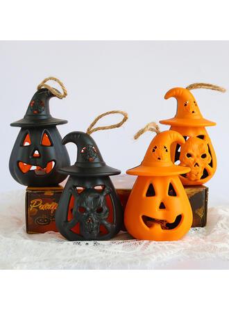 Horripilante Halloween Calabaza Resina Accesorios de Halloween Decoraciones De Halloween (Juego de 4)