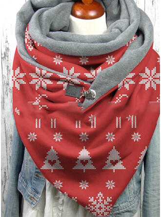 Geometric Print/Christmas fashion/Christmas Scarf