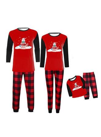 Santa claus Reno Carta Familia a juego Pijamas De Navidad