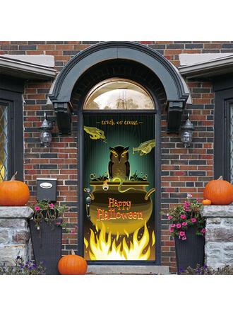 gótico Halloween Truco o trato PVC Decoraciones De Halloween Signo de porche
