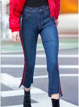 Striped Elegant Vintage Denim & Jeans
