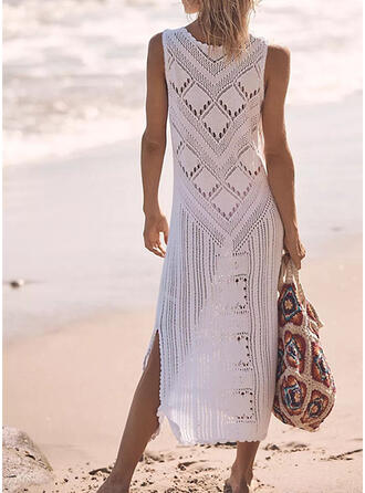 Solid Off the Shoulder Vacation Sporty Party Cover-ups Swimsuits