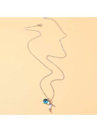 Simple Pretty Aleación con Perlas Collares