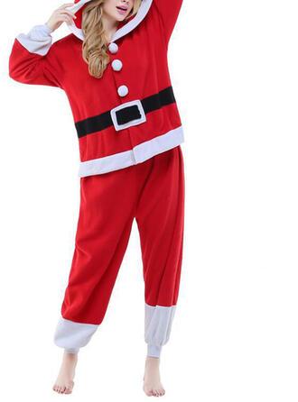Polyester Long Sleeves Christmas Santa Romper