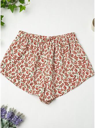 Poliéster Impresión Floral Pantalones cortos