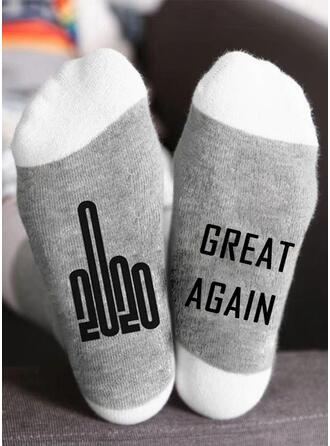 Letter/Stitching/Print Breathable/Crew Socks/2020/Unisex Socks