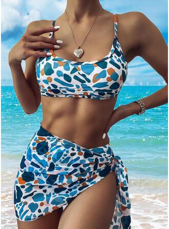 Color Block Halter U-Neck Exquisite Bikinis Swimsuits