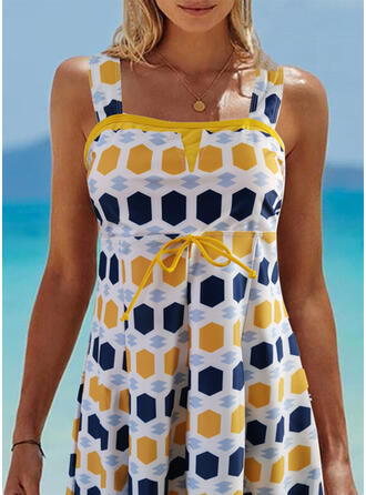 Dot Colorful Strap Amazing Exquisite Novelty Luxury Tankinis Swimsuits