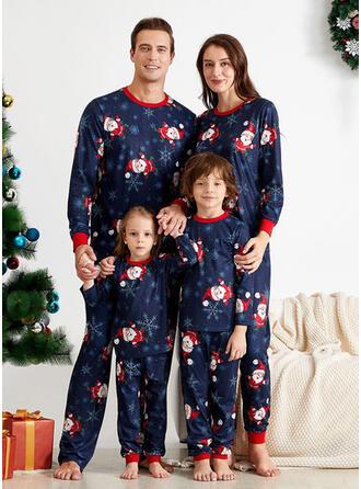 Santa claus Dibujos animados Familia a juego Pijamas De Navidad