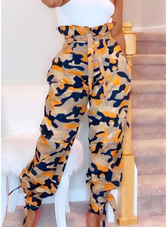 Camuflaje Largo Casual Sexy Pantalones