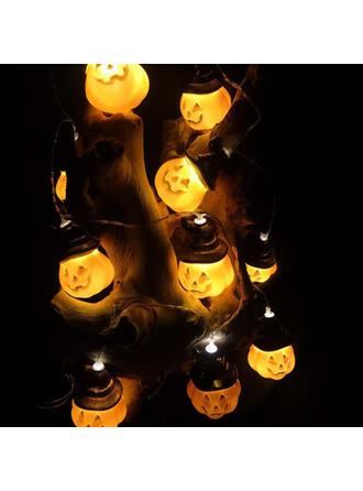 Horripilante Halloween Calabaza Plástico Decoraciones De Halloween Luces de cadena (Juego de 10)