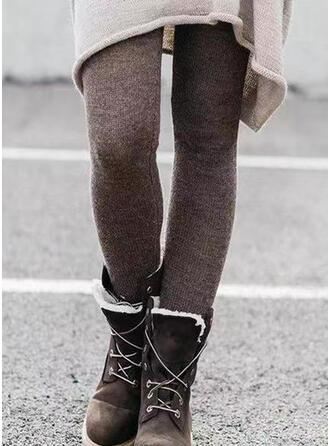 Sólido Fruncido Talla extra Largo Elegante Sexy Pantalones Polainas