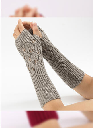 Solid Color/Crochet attractive/Comfortable Gloves