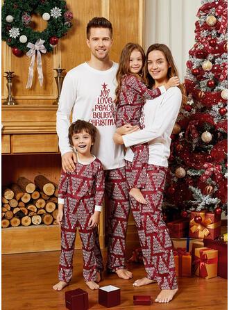 Letter Family Matching Christmas Pajamas